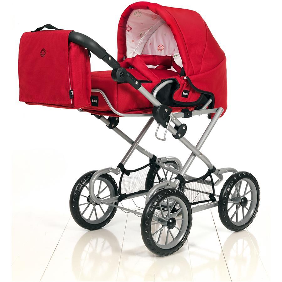 BRIO Poussette combinée pour poupée, rouge, avec sac à langer 24891393