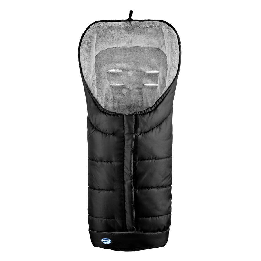 URRA Coprigambe a sacco invernale Deluxe , nero/grigio