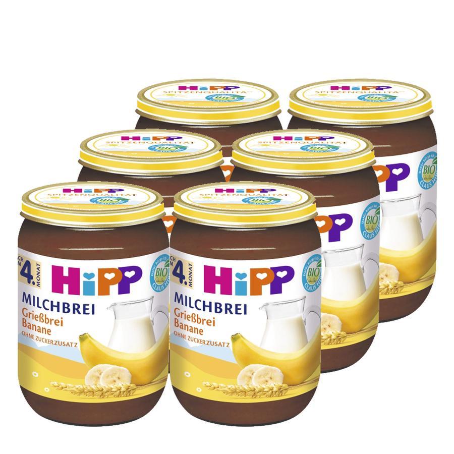 HiPP Bio Milk Mash Semolina Mash Fruits 6 x 190g