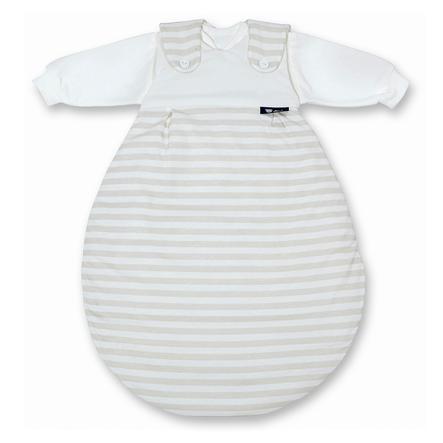 Alvi Baby-Mäxchen® - das Original 3tlg. - Blockstreifen beige, Gr. 50/56