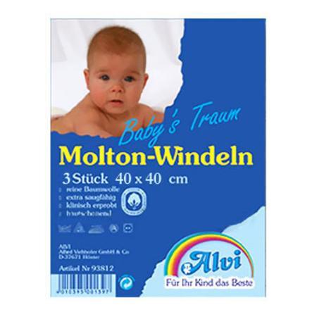 ALVI Molton Windeltuch 40/40 3er Sparpack zum Superpreis ! (93811)