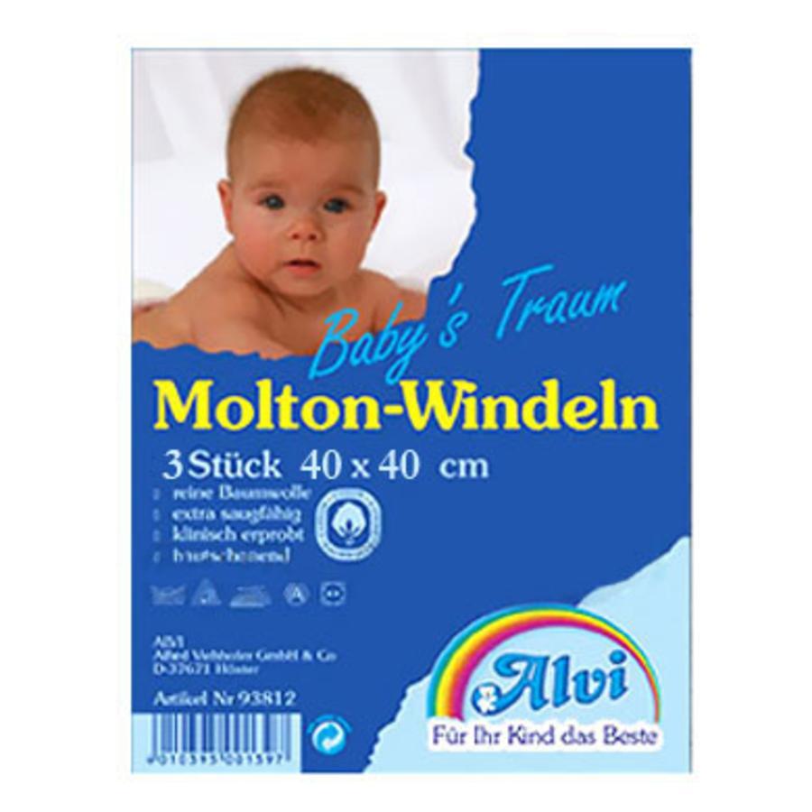 ALVI Molton Diaper Cloths 40/40 3 Piece Bonus Pack for 2.99