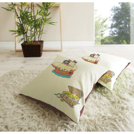 TICAA Lot de coussins - Pirates beige/brun