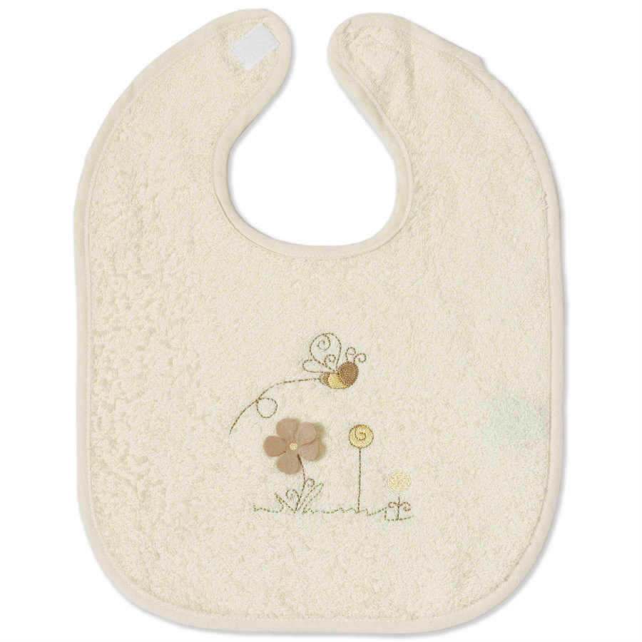 Easy Baby Plush Bib with hook-and-loop fastener - Honey Bear (361-79)