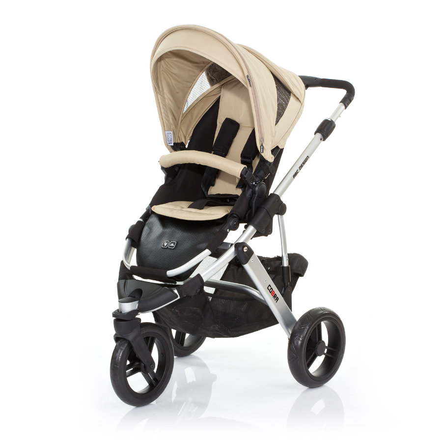 ABC DESIGN Kinderwagen Cobra desert Frame silver/black Collectie 2015