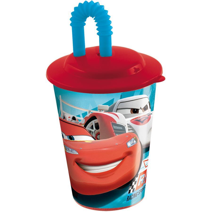P:OS Trinkbecher mit Strohhalm - Disney Cars