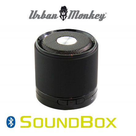 easypix - Urban Monkey - Altoparlante portatile Bluetooth SoundBox, black