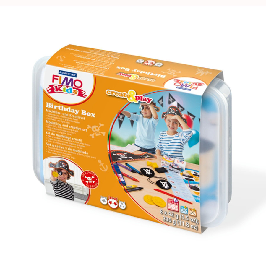FIMO Kids, create&play - Geburtstags-Box Pirat