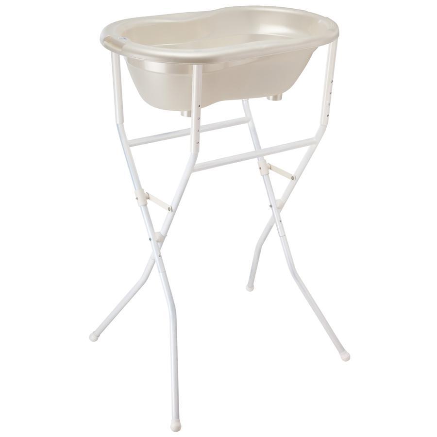 ROTHO Support pour baignoire, pliable et réglable en hauteur, blanc