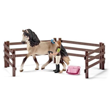 SCHLEICH Farm Life Set - Paardenverzorgingsset Andalusiër 42270