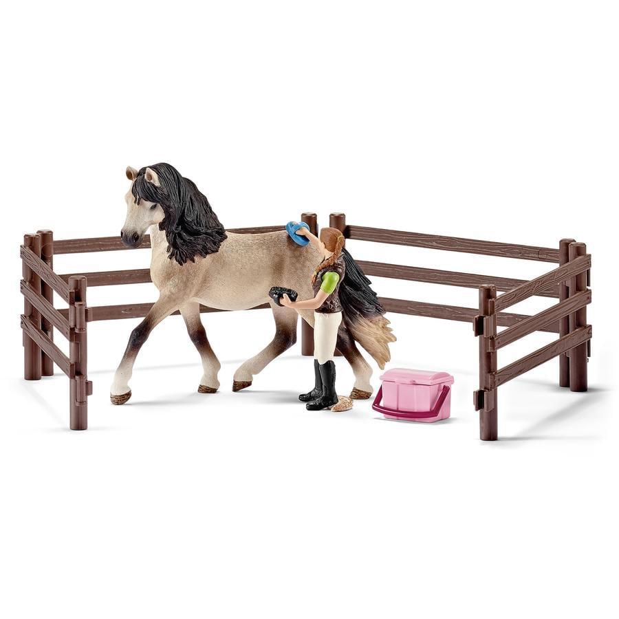 Schleich Farm Life Set - Pferdepflegeset, Andalusier 42270