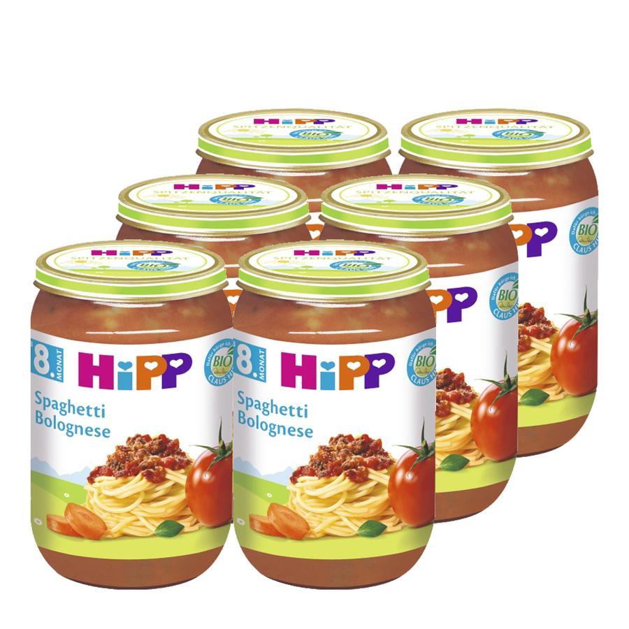 HiPP Bio Spaghetti Bolognese 6 x 220 g