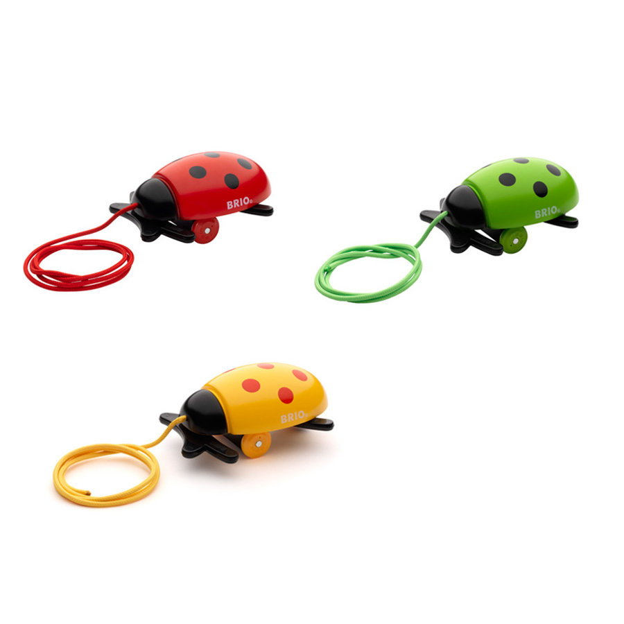 BRIO Pull-Along Ladybug, in 3 Colours