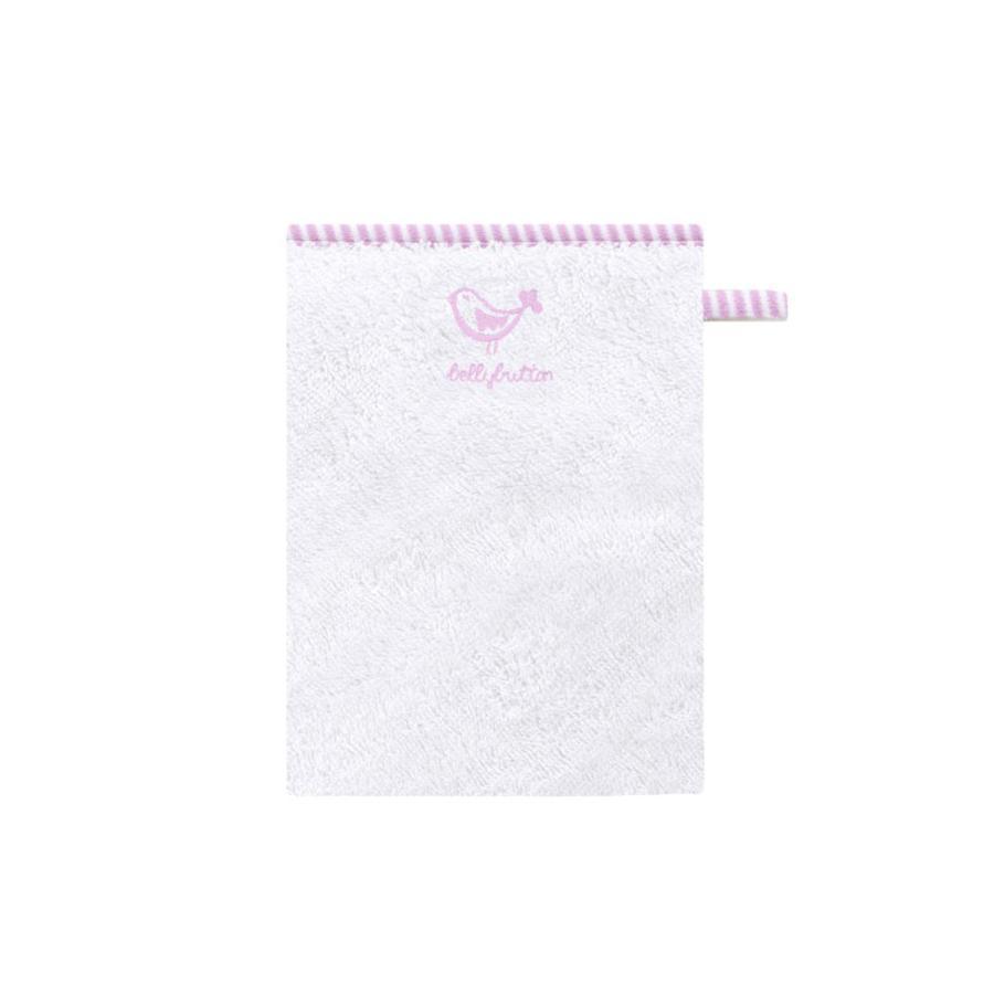 BELLYBUTTON Tvättlapp vit/rosa