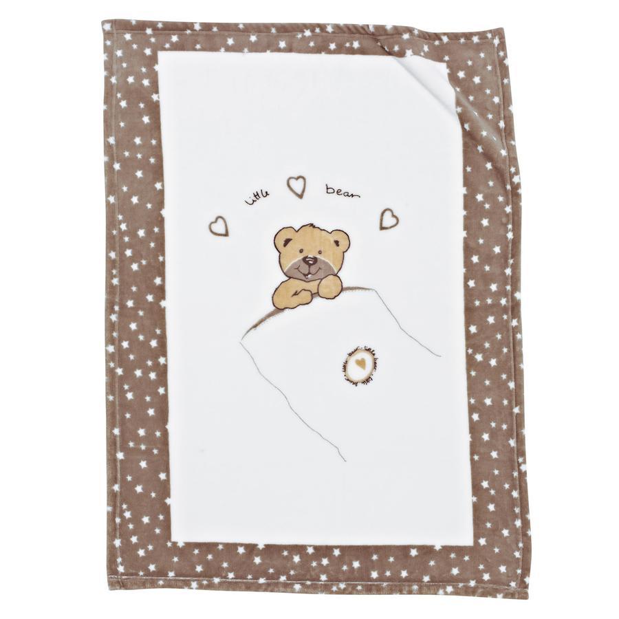 ALVI Microfaser Decke - Little bear beige