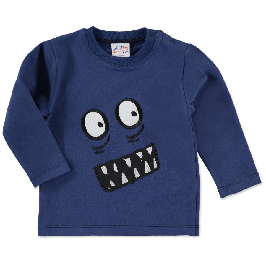 anna & tom Mini Boys Sweat-Shirt Langarm Monster blau