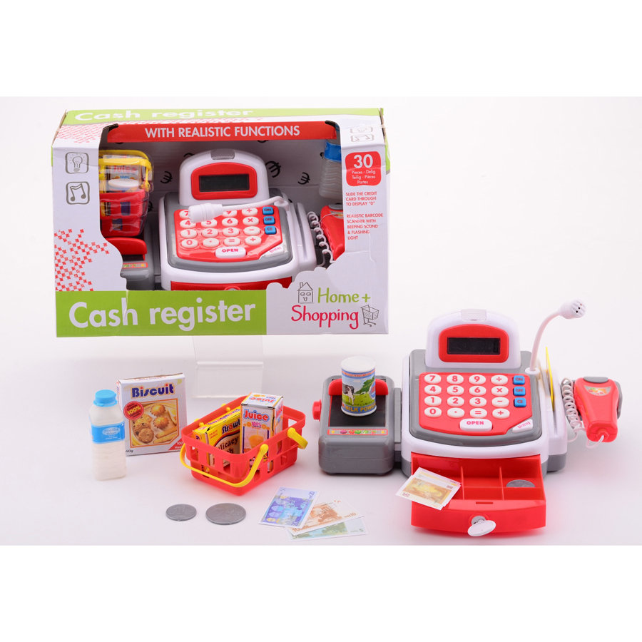 JOHNTOY Home and Shopping - Caisse avec effet lumineux et sons