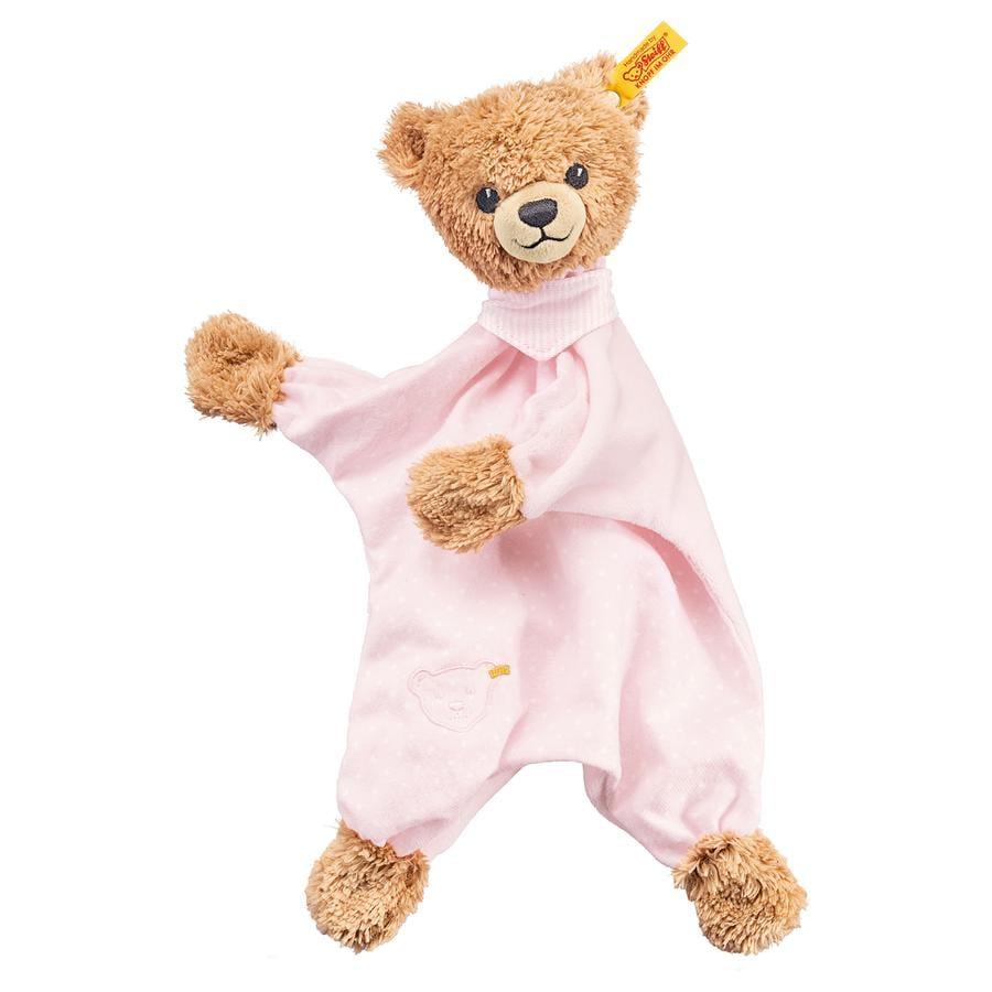 STEIFF Spinkej dobře - medvídek, ručníček, 30cm, růžový