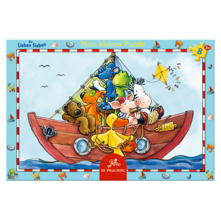 COPPENRATH kleines Rahmenpuzzle Lustige Bootsfahrt - Die Lieben Sieben
