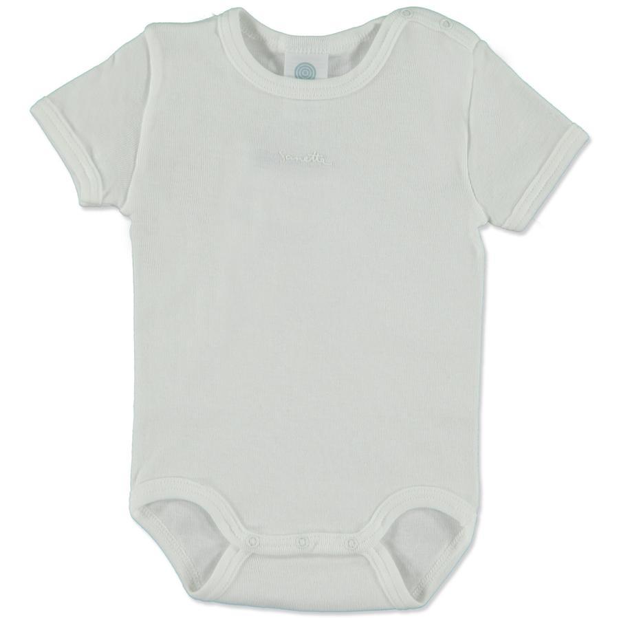 SANETTA Baby Body manga corta blanco