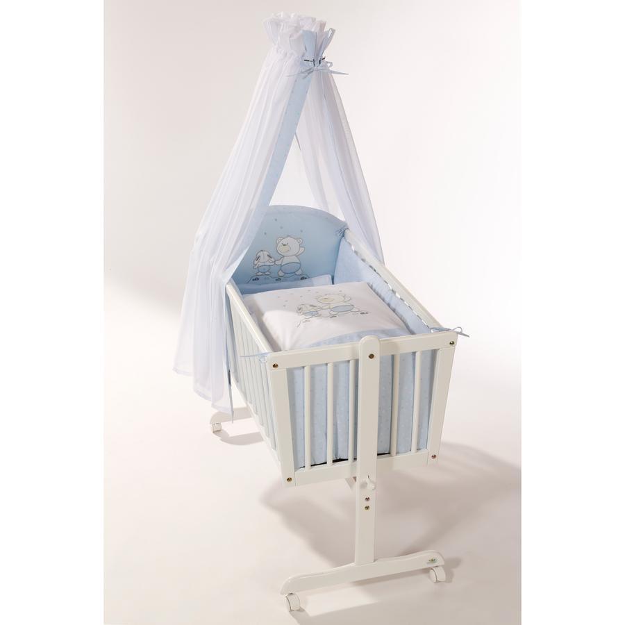 Easy Baby Zestaw pościeli do kołyski Stars & Friends kolor niebieski