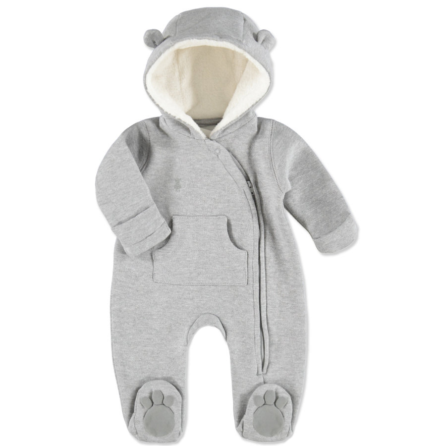 LITTLE Melange Sweat Overall grey melange