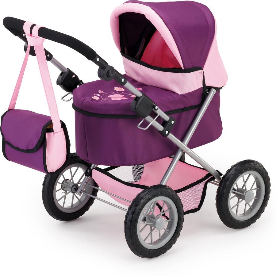 BAYER DESIGN Kočárek pro panenky Trendy, fialová/růžová