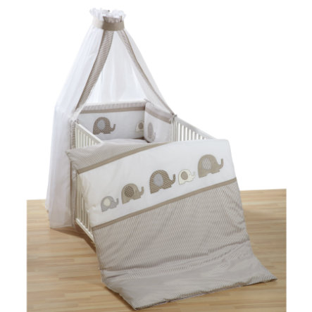 ALVI Bettset Elefant beige