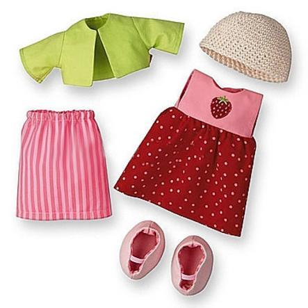 HABA Kleiderset Erdbeere für 30 cm Puppen 3669