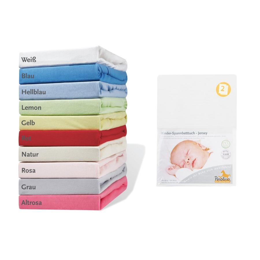 Pino lino lenzuola su misura Jersey doppio pacco - bianco