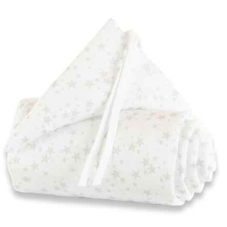 babybay® Nestchen Piqué Original Sterne perlgrau 144x25 cm