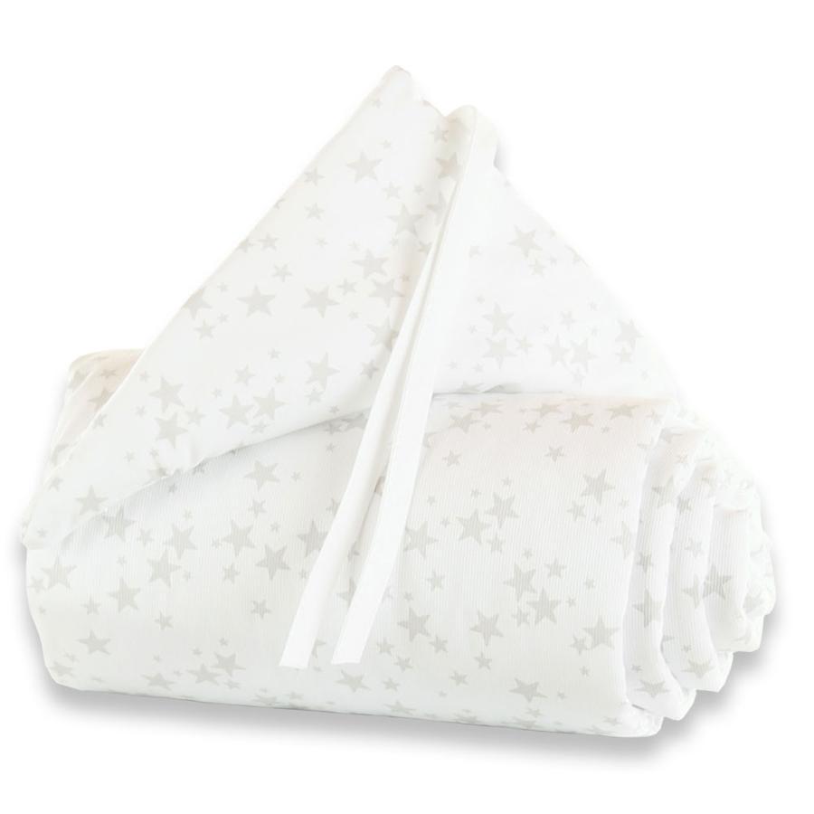 TOBI BABYBAY Protector de cuna Original estrellas/gris perla
