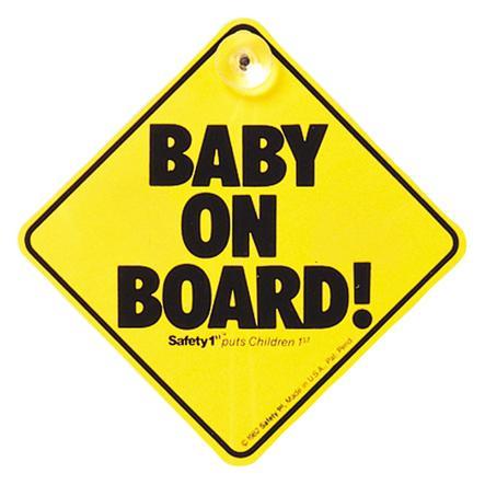 """Safety 1st """"Baby On Board"""" - Targhetta"""