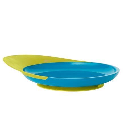 boon Teller blau / grün mit Auffangschale
