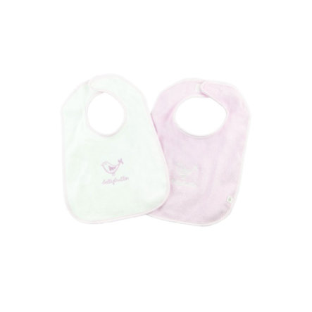bellybutton Girls Baby 2er-Set Lätzchen lilac snow/purple