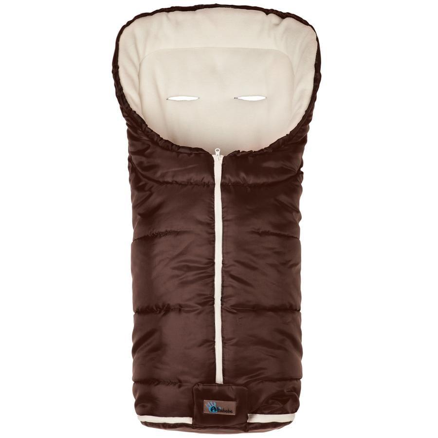 ALTA BÉBE Åkpåse för vintern - Basic Footmuff (2202) Brown-White