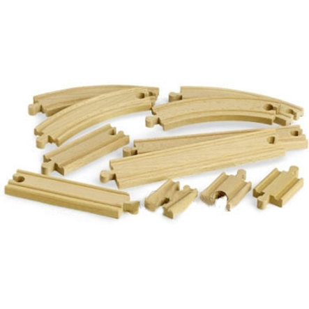 BRIO® WORLD Coffret évolution pour circuit de train débutant bois 33401