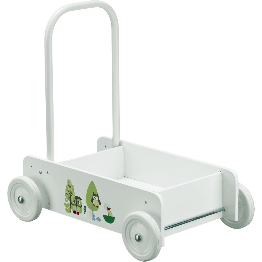 KIDS CONCEPT Loopwagen, wit