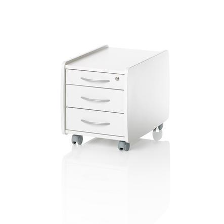 KETTLER Meuble de rangement à roulettes LOGO TRIO BOX, blanc 6768-111