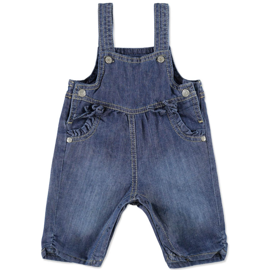 STEIFF Girls Baby Jeans Latzhose blue denim