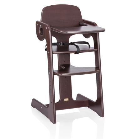 HERLAG Krzesełko do karmienia Tipp Topp IV drewno bukowe kolor brązowy