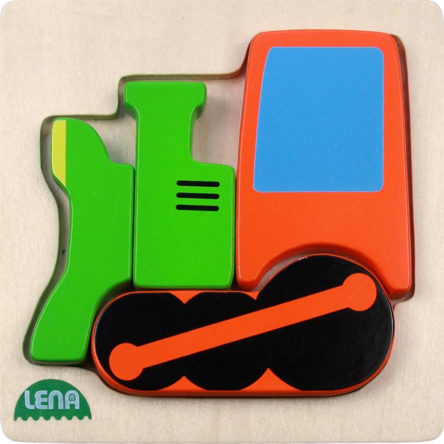 LENA® Holzpuzzle Lokomotive 4 Teile