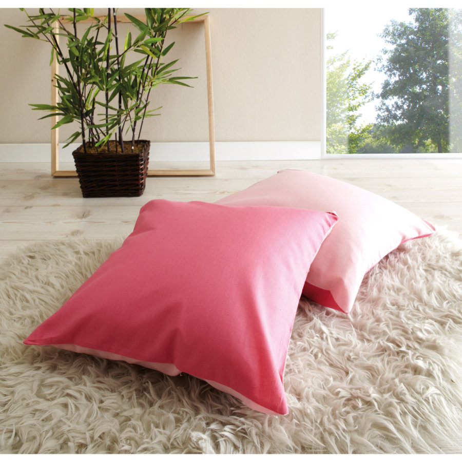 TICAA Lot de coussins - rose vif/rose