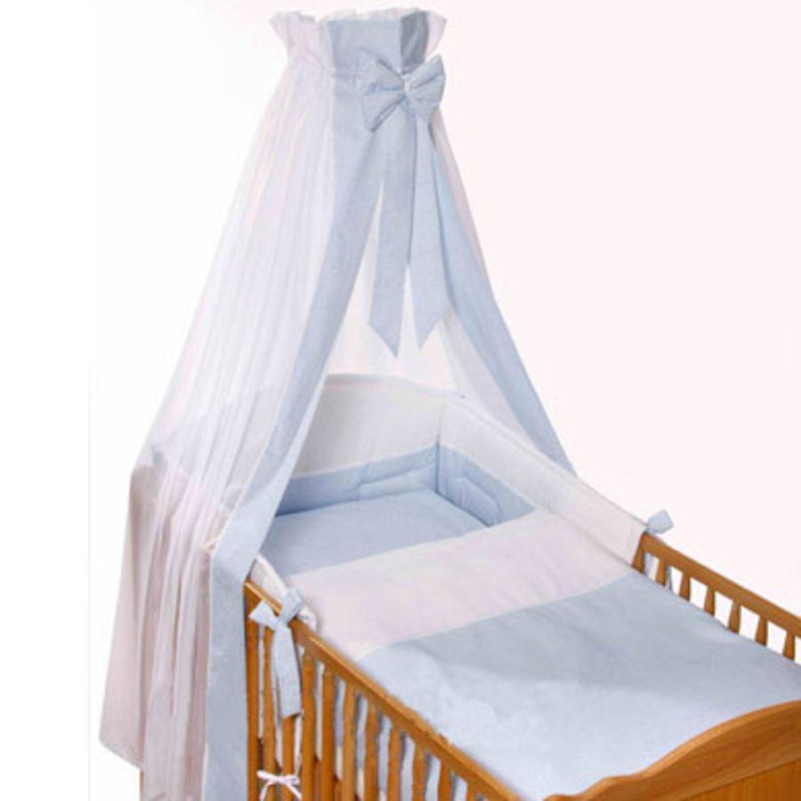 Easy Baby Set Completo per Lettino Vichy blu (400-50)