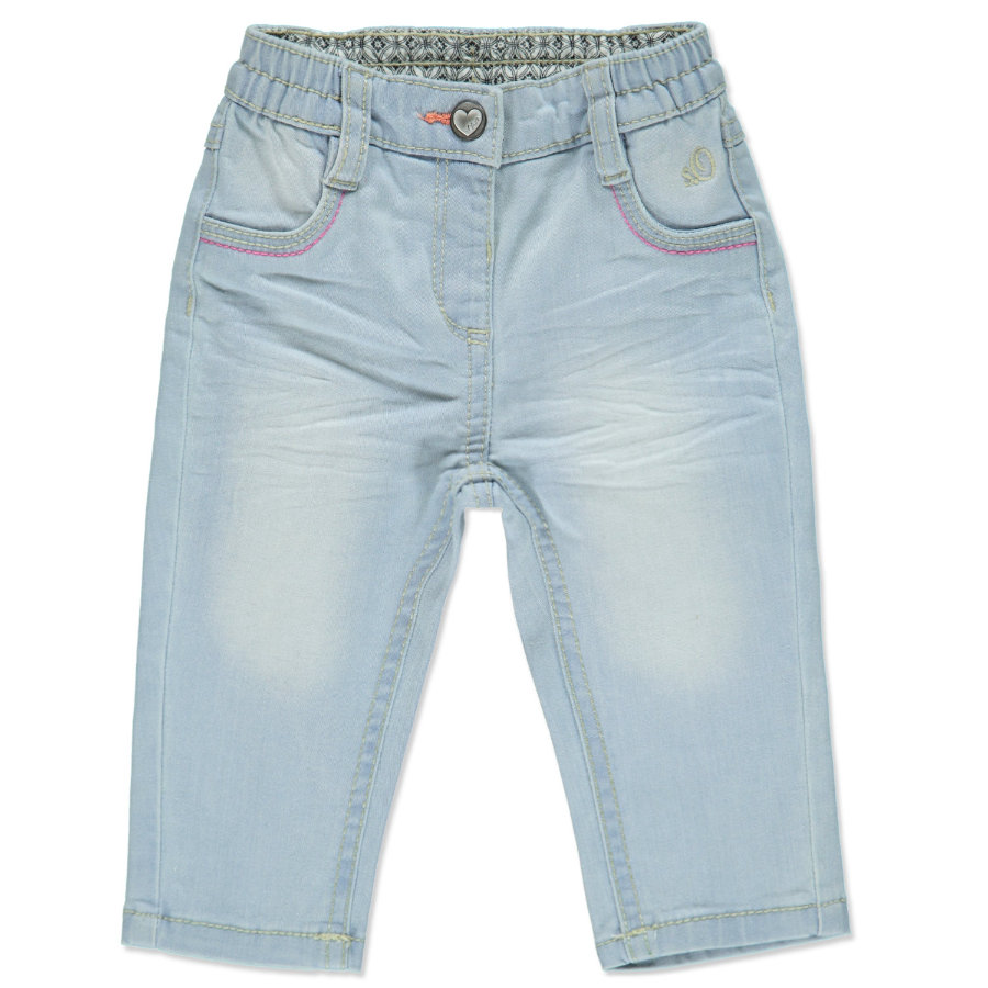 s.OLIVER Girls Mini Spodnie dżinsowe blue denim