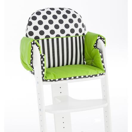 HERLAG Zitkussen voor Kinderstoel Tipp Topp IV  groen / zwart / wit