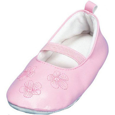 PLAYSHOES Ballerina Pink Shoes with Leather Sole