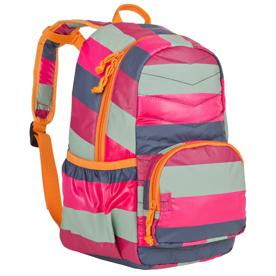 LÄSSIG Mini Rucksack Quilted Backpack Striped Magenta