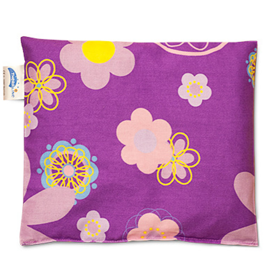 THERALINE Cherry Stone Pillow 19x19cm Retro Flower Plum