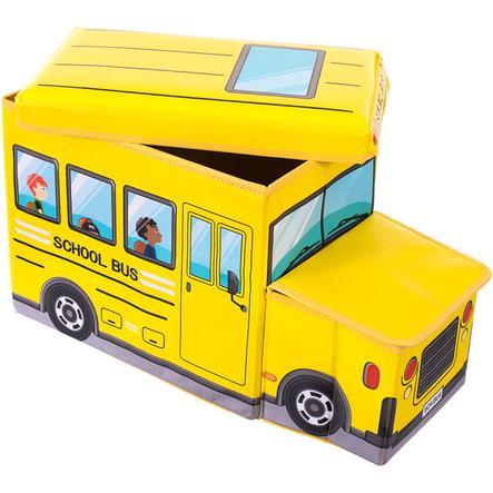 BIECO Skrzynia na zabawki i ławka do siedzenia Autobus szkolny